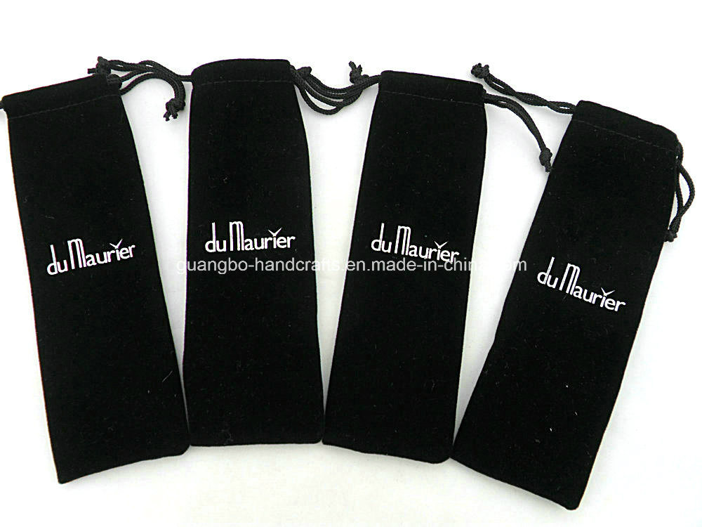 Customized High Quality Velvet Pen Pouch/Bag (QR-R46)