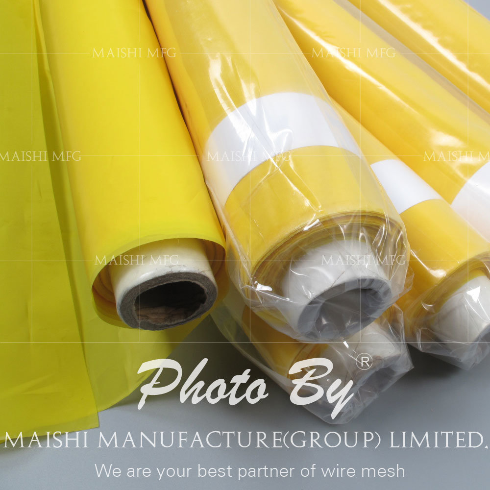 Yellow Silk Screen Printing Mesh