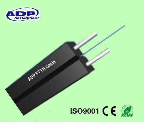 Factory Price Indoor FRP Messenger FTTH Fiber Optical Cable