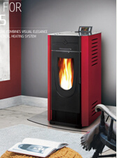 Modern Wood Pellet Stove Hearth Fireplace (CR-04)