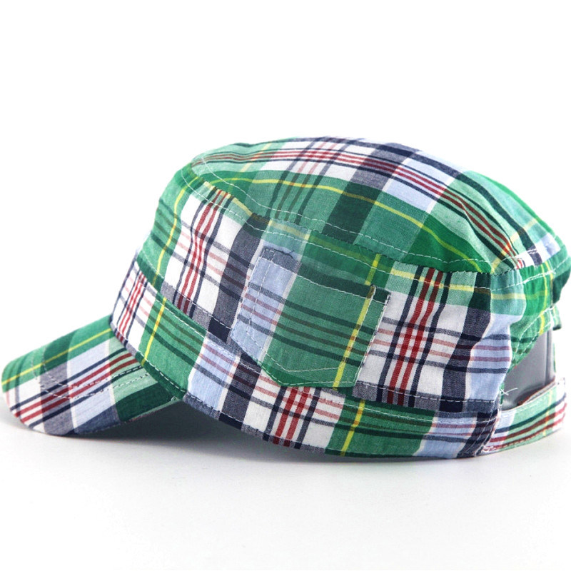 Fashion Check Pattern Military Hats