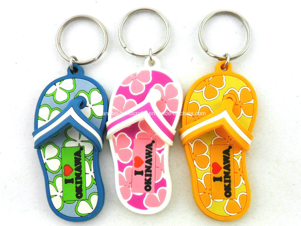Custom Rubber PVC Keyring PVC Key Ring