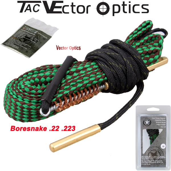 Wholesale Best Boresnake / Bore Snake. 22 5.56.223 Ar15 M4 M16 Barrel Rifle Pistol Handgun Shot Gun Cleaning Cleaner Kit Maintenance with Bronze Brush Gun Oil