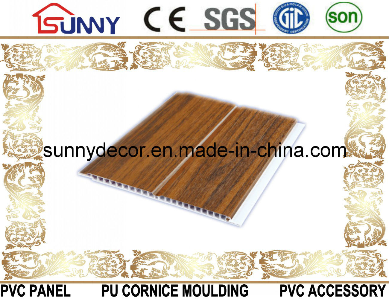 Lamination Groove PVC Ceiling Panel, PVC Wall Panel, PVC Ceiling Tile