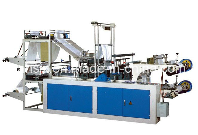 Computer Double Layers Roll Bag Making Machine (HSLJ-800)