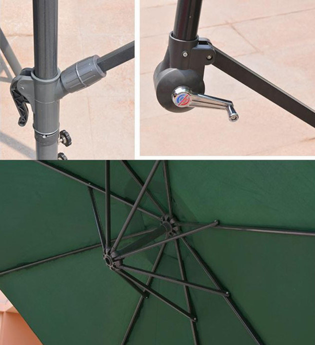 Windproof Sun Protection Cantilever UV Patio Beach Umbrella