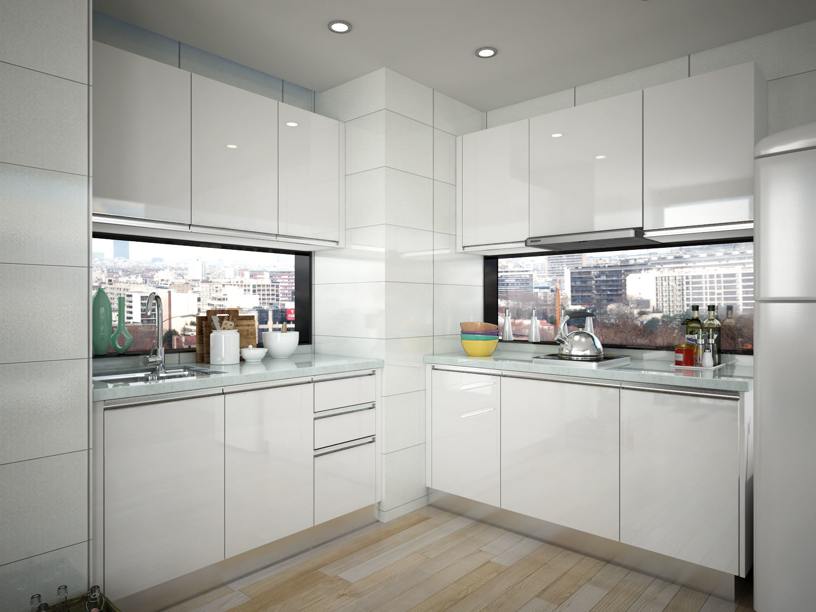 China Oppein Best Interior Design Small Hpl Kitchen