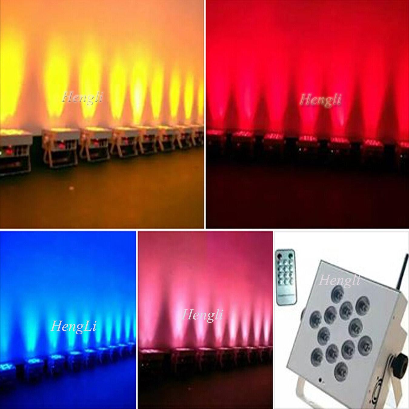 DMX&Battery& Wireless Waterproof Kibetic Lighting 12 *10W RGBW 4in1 LED Flat PAR