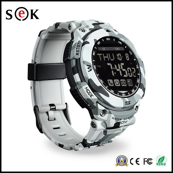 Sek Fashion Waterproof Metal Bluetooth PS1500 Sport Steel Strap Smart Watch for Smart Phones with Pedometer