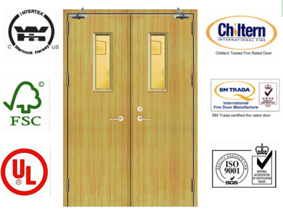 China Fire Door/ Solid Wooden Fire Rated Doors with BS476 Standard ...