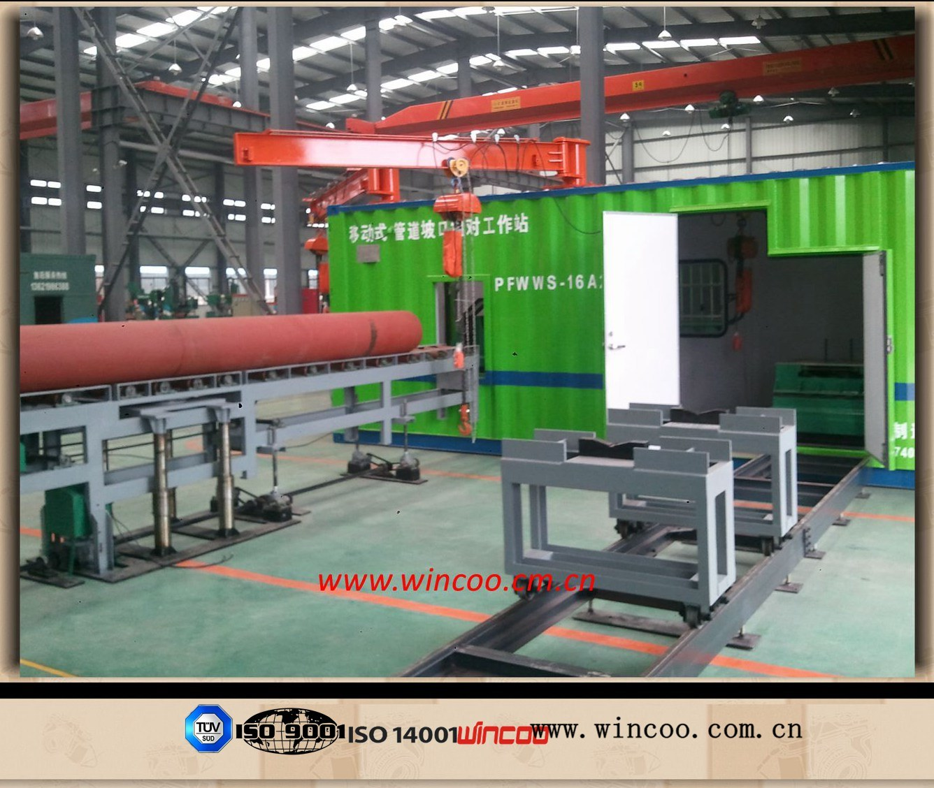 Pipe Spool Pipeline Fabrication Machines/Containerized Pipe Spool Fabrication System