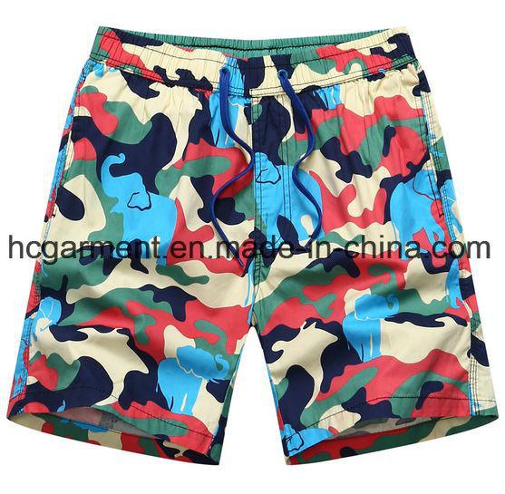Nylon Fabric Boards Shorts, Man′s Camouflage Printed Beach Shorts