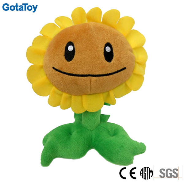 Custom Design Plush Toy Flower Stuffed Toy Sunflower