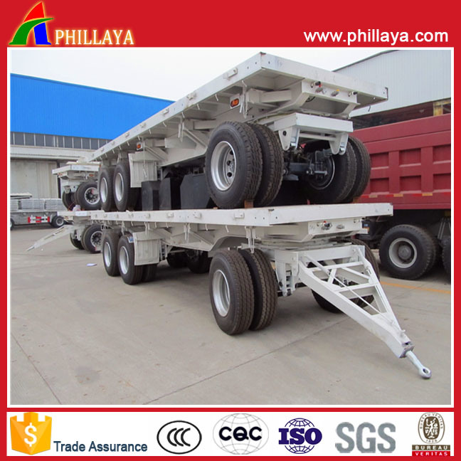 Flatbed Loading Deck Double Axles Full Lorry Truck