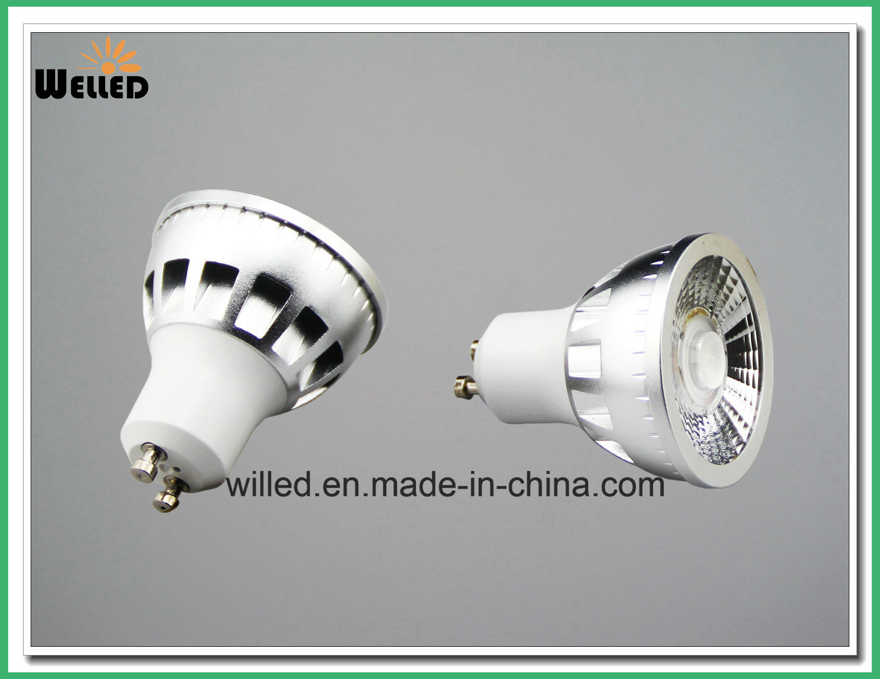 220V/110V 0-100% Traic Dimmable Pure Aluminum 5W LED GU10 Spotlight Spot Light 80ra 90ra 95ra with Narrow Angle