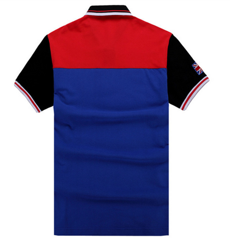 China Factory OEM Short Sleeves Mixed Colors Embroidery Patch Polo Shirt