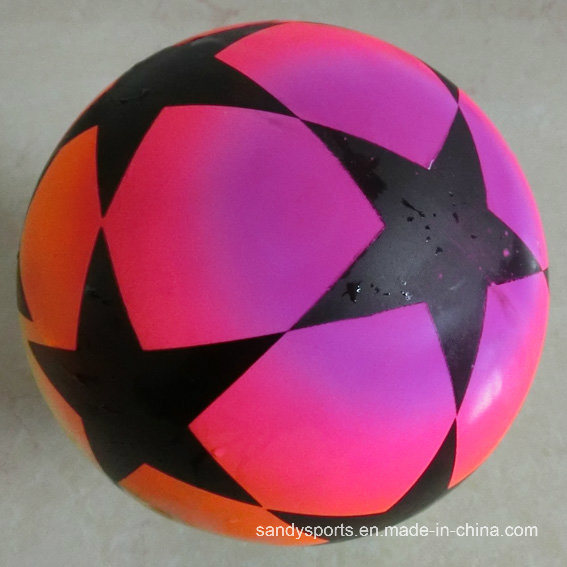 PVC Toys Inflatable Color Printing Rainbow Kicker Toy Soccer Playball