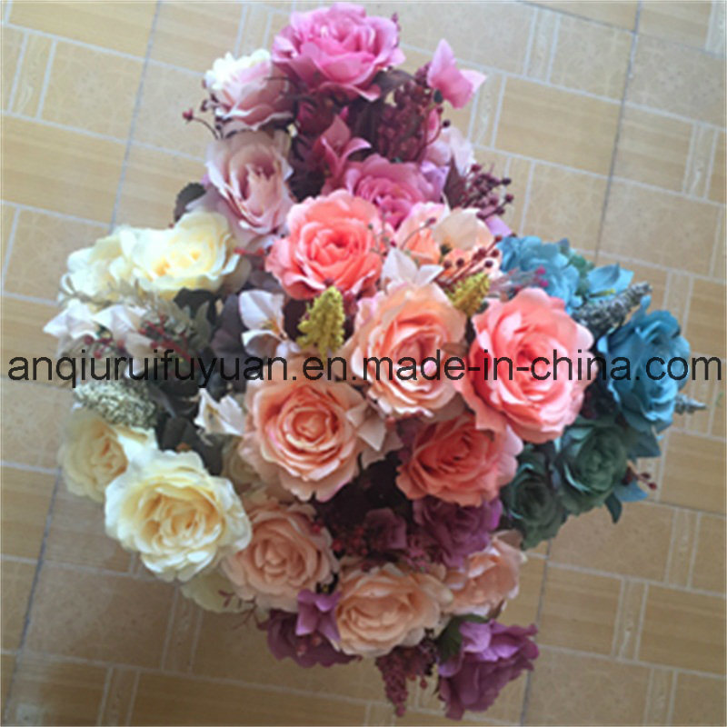 The Christmas Decoration with Artificial Flowers