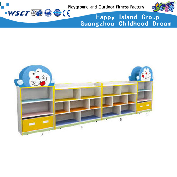 Cartoon Character Wooden Toys Cabinet Children Furniture Hc-3106