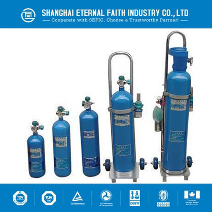 50L High Pressure Seamless Steel Oxygen Gas Cylinder