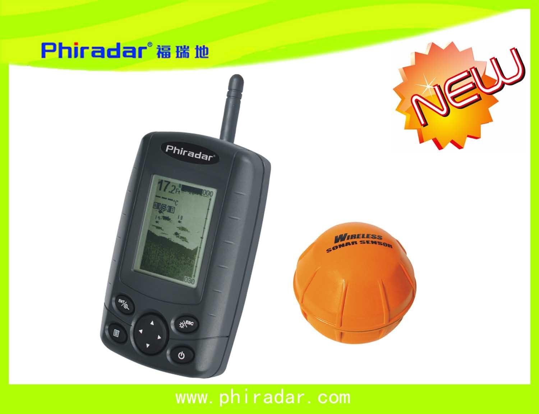 China portable wireless fish finder ff168w china fish for Wireless fish finder