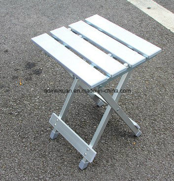 Aluminum Alloy Square Stool Portable Folding Stool Outdoor Camping Fishing Camp Stool Bench Fishing Chair (M-X3433)