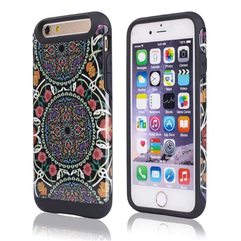 2in1 Armor Printed Shock Proof Cover for iPhone 6 Plus