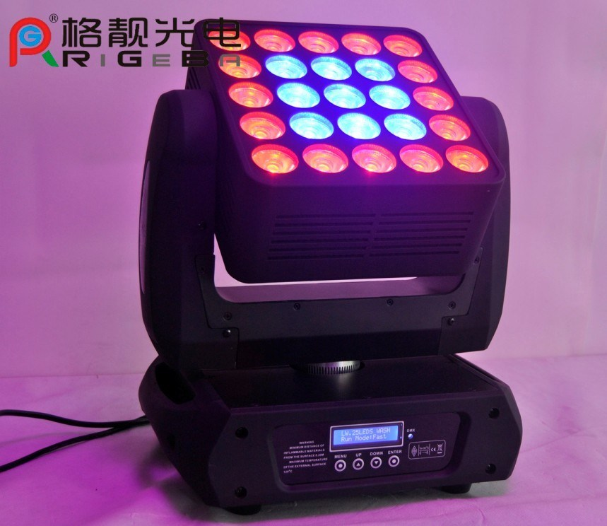 DMX512 25PCS 12W RGBW LED Moving Head Matrix Blinder