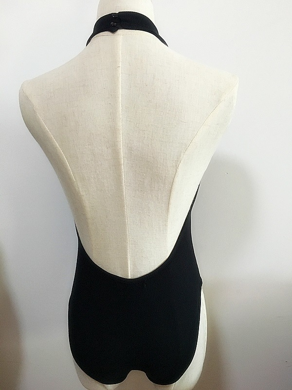 Women Fashion Clothes Sexy Rib Bodysuit Garment