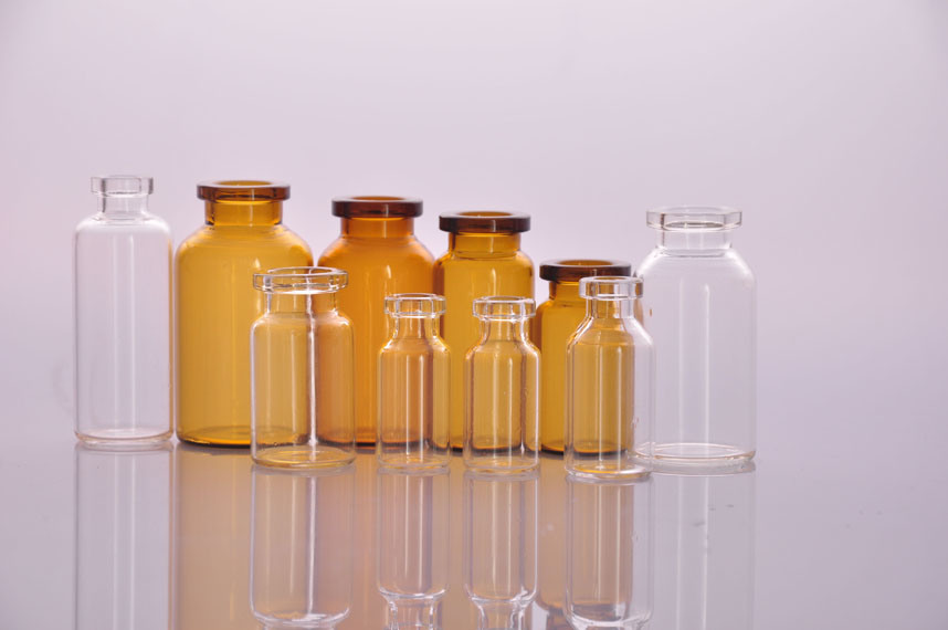 10ml Clear and Amber Tubular Glass Vials
