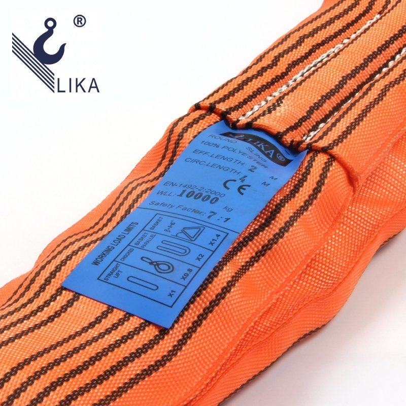 W. L. L. 10t Polyester Endless Round Webbing Sling