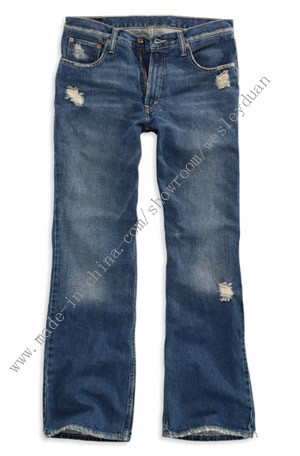 Ladies Destroy Denim Jeans (33576413)