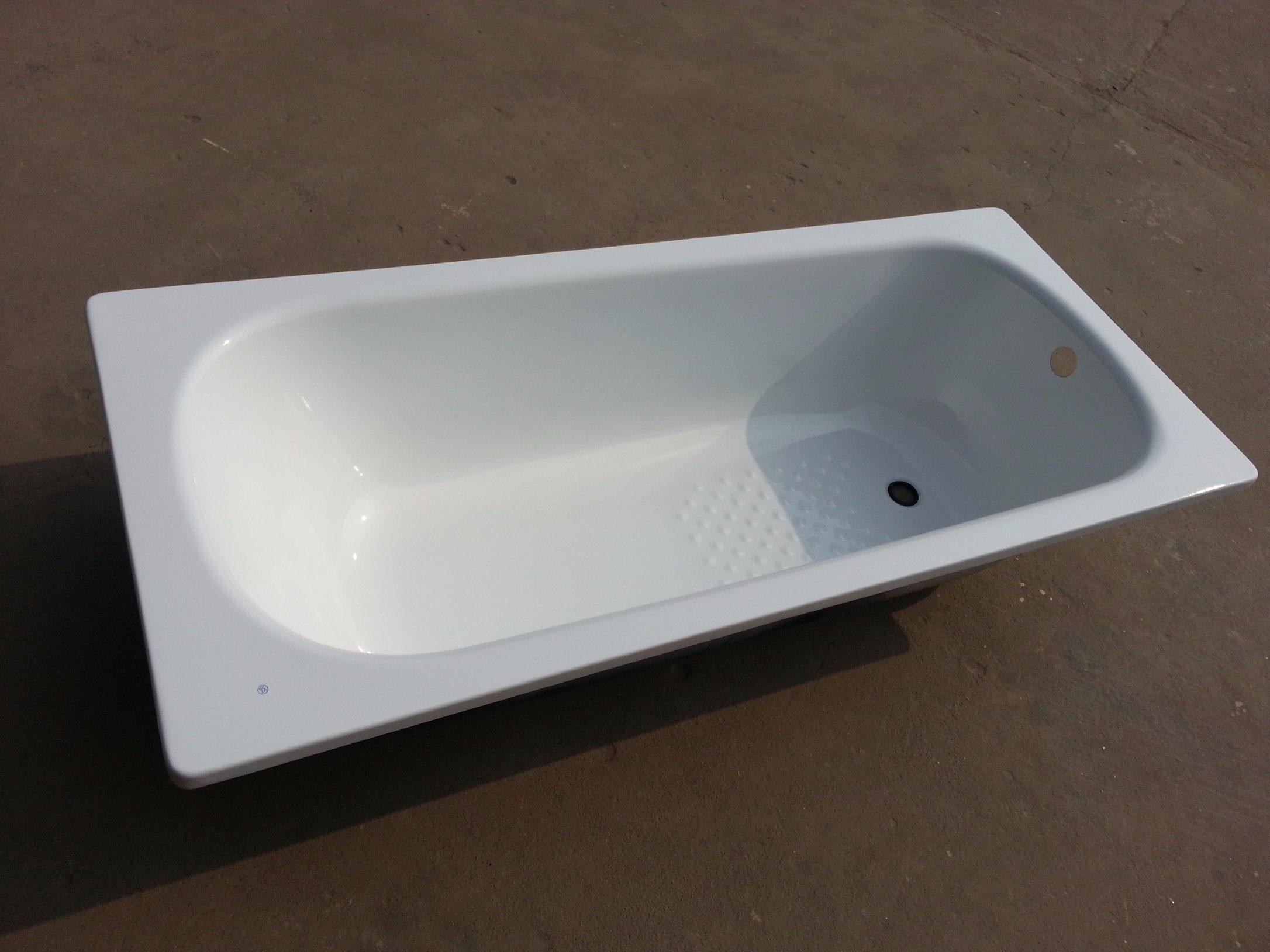 Drop-in Steel Enameled Simple Bathtub