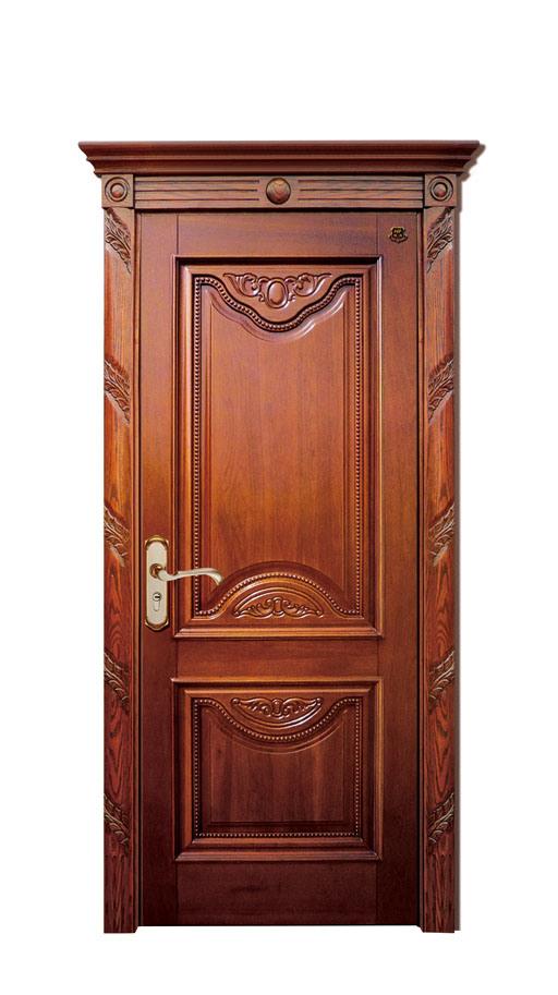Custom interior wood doors solid wooden doors flat auto for Flat solid wood door