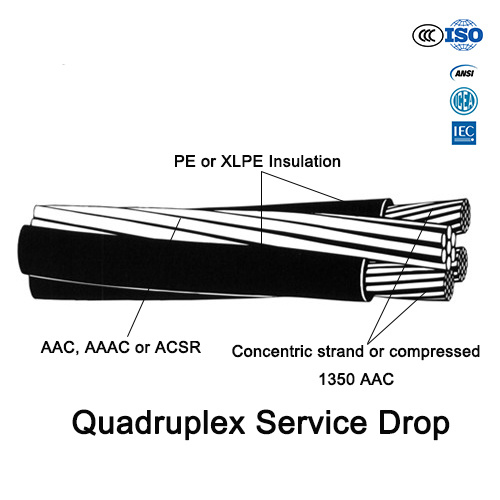One Phase Cable, Quadruplex Service Drop, ABC Cable for Overhead Use