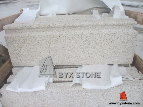 Golden Granite Moulding for Architectural Building Project
