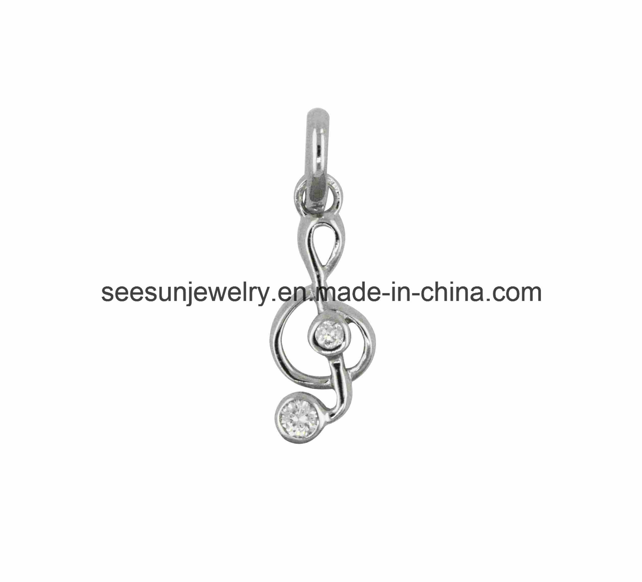 925 Fashion Silver Jewelry Music Symbol Pendant