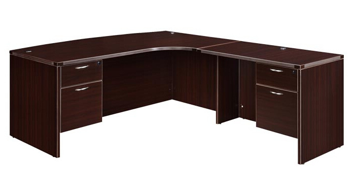 Modern High Quality MFC Board Office Furniture Office Resersible Return Desk Rrturn Table