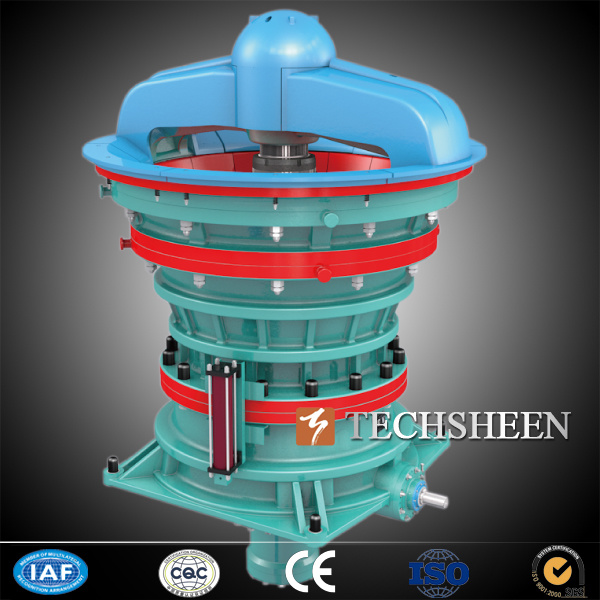 Techsheen Super High Capacity Mining Materials Iron Copper Ore Gyratory Crusher