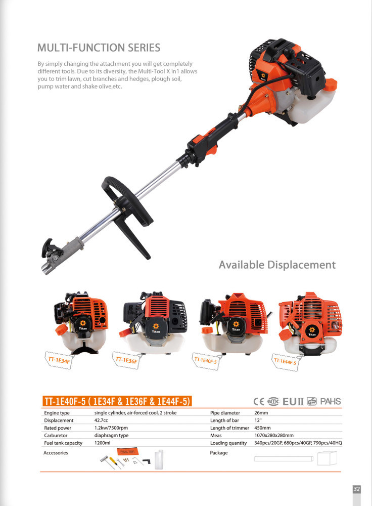43cc Petrol Garden Tools 4 in 1 Brush Cutter (TT-M2600-2)