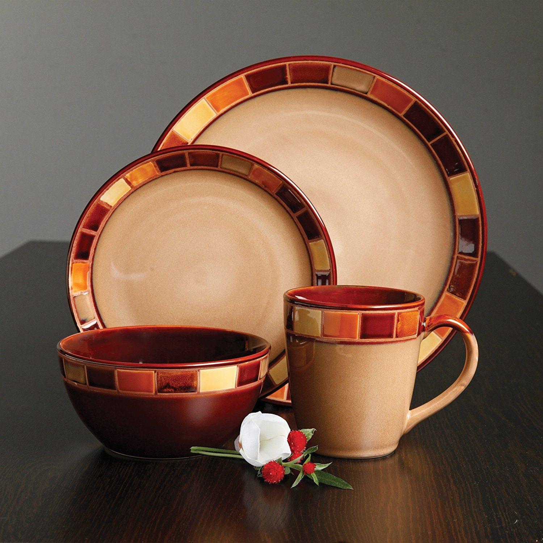 Creative Unique Ceramic Dinnerware Set Mug with Beige and Brown