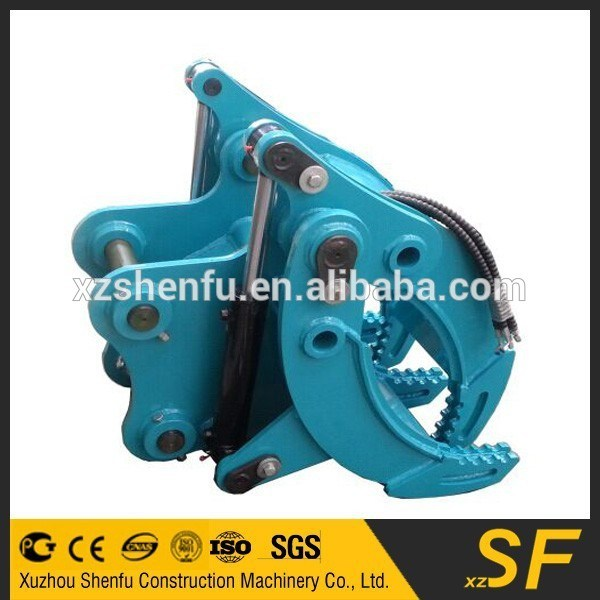 Excavator Grapple Hydraulic Grab for Kobelco Sk135 Excavator