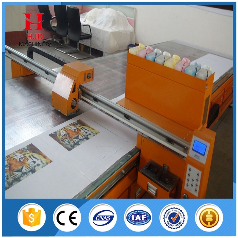 Automatic Flat Type Cotton Clothes Digital Inkjet Printer for Sale