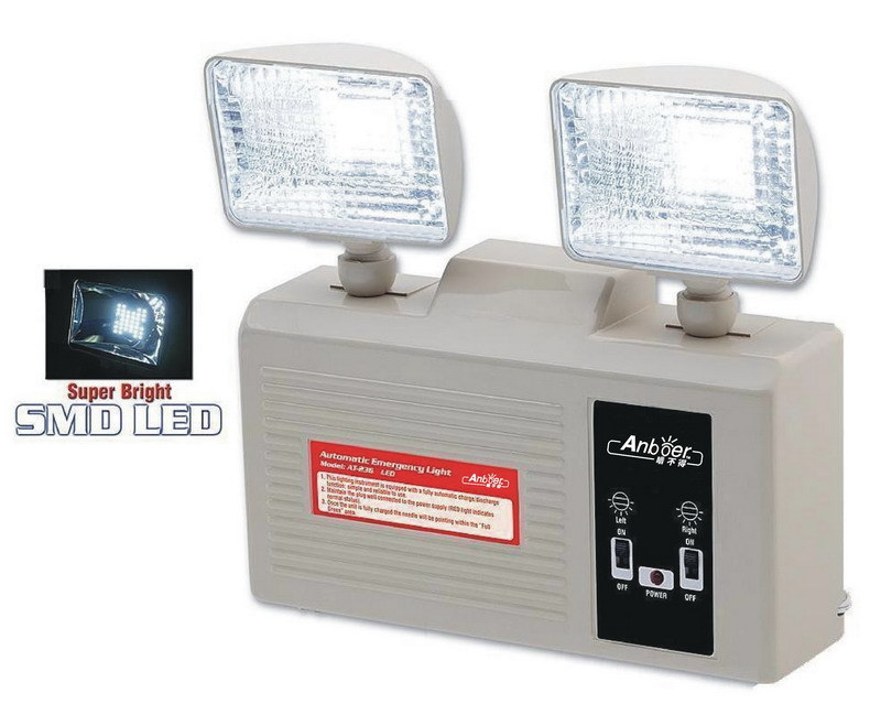 emergency exit lights with battery backup china twin lights emergency. Black Bedroom Furniture Sets. Home Design Ideas