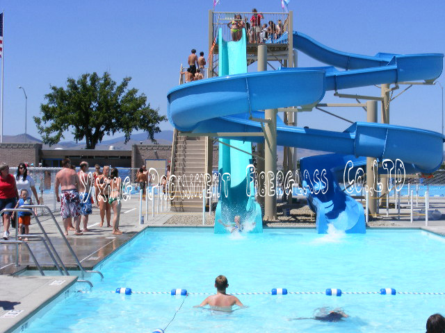 China commercial used swimming pool water slide for sale - Commercial swimming pool water slides ...