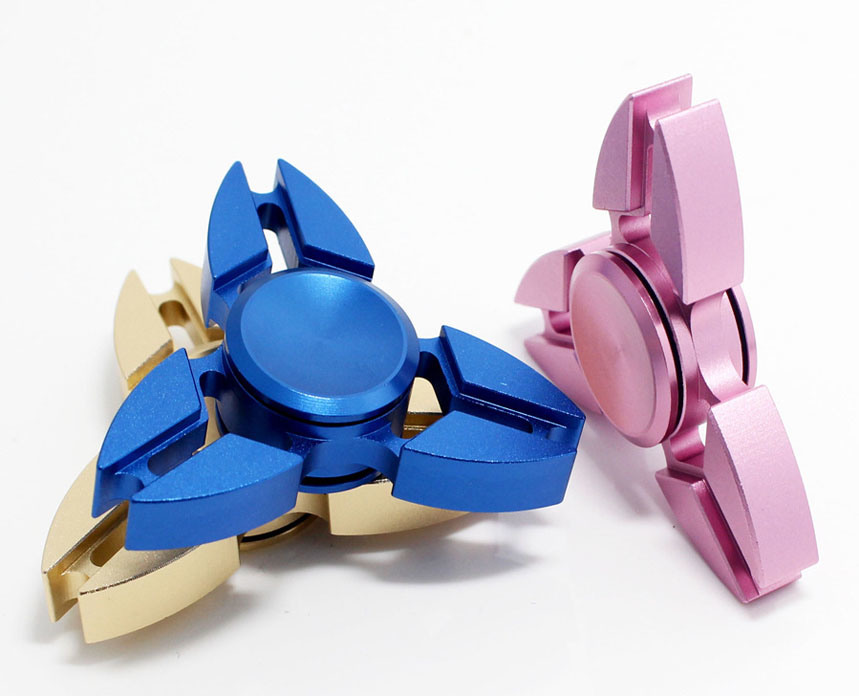 Aluminum Alloy Office Gadget Toy Tri Fidget Spinner Hand Spinner