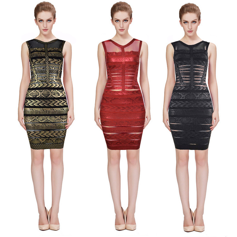 Hot Sale Ladied Lace Bodycon Dresses