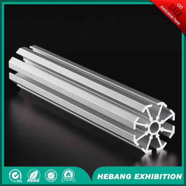 Aluminum Extrusion Small Hole 8 Way Aluminum Column