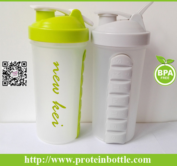 2016 Brand New Patent 600ml Shaker Mix with Pill Container