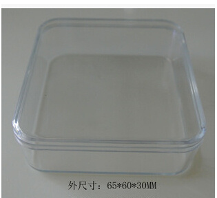 All Clear Hard Polystyrene Material Round Corner Square Shape Box